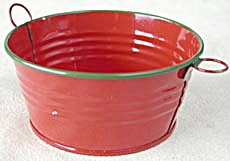 Metal Red and Green Pails (Image1)