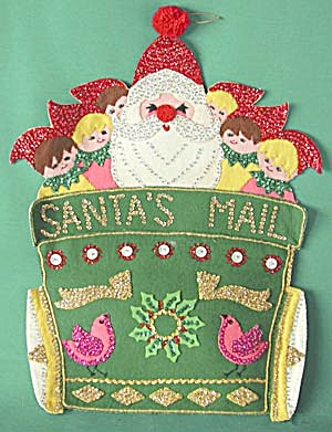 Vintage Felt Santa's Mail Holder (Image1)