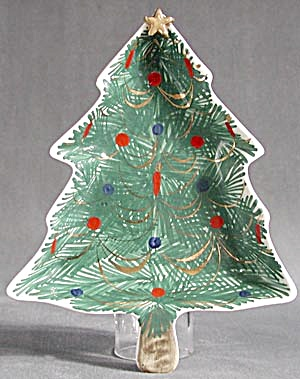 Italian Pottery Dish Italy Christmas Tree (Image1)