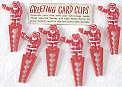 Vintage Santa Greeting Card Clips (Image1)