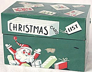 Vintage Christmas Card File Box (Image1)