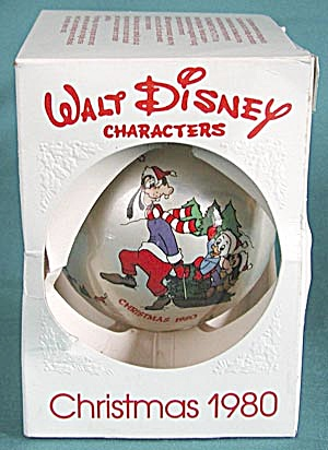 Walt Disney Goofy Sleigh Ride Christmas Ball Ornament