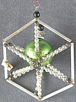 Vintage Occupied Japan Beaded Christmas Ornament (Image1)