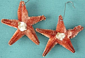 Vintage Chenille Star Christmas Ornament  (Image1)