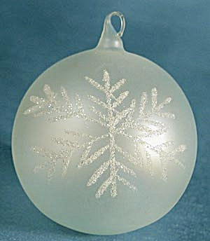 Pearlescent Aqua Blown Glass Christmas Ornaments (Image1)