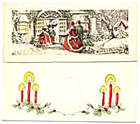 Vintage Christmas Money Cards Set Of 6