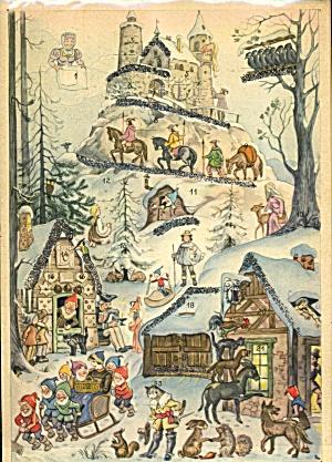Vintage Western Germany Paper Advent Calendar (Image1)