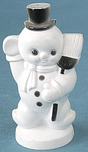 Vintage Plastic Snowman Christmas Decoration