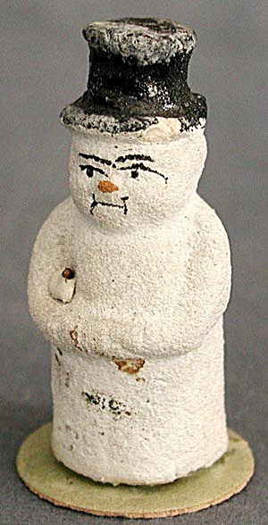 Antique German Tiny Snowman (Image1)
