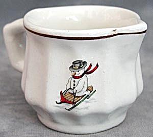Vintage Snowman China Pitcher (Image1)
