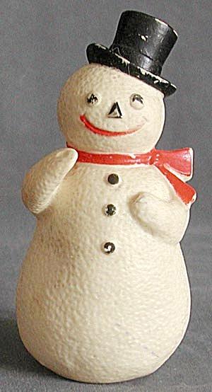 Vintage Plastic Snowman (Image1)