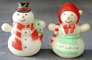 Vintage Snowman Salt & Pepper Shakers (Image1)