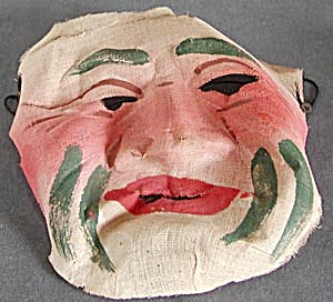 Vintage Halloween Fabric Mask (Image1)