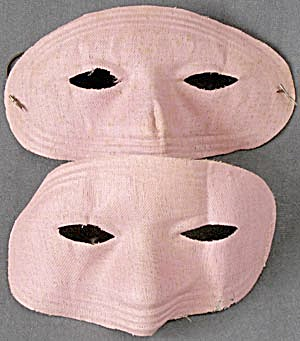 Vintage Fabric Halloween Masks Set of 2 (Image1)
