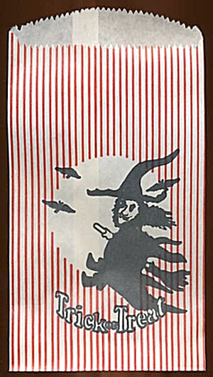 Vintage Witch Halloween Treat Bags Set of 5 (Image1)