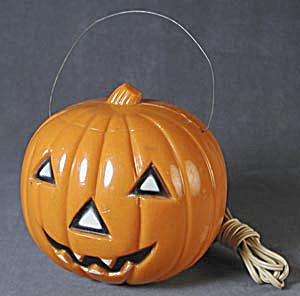 Vintage Electrical Black Highlighted Jack-o-lantern