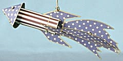 Metal 4th Of July Rocket Christmas Ornament