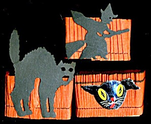 Vintge Halloween Nut Cups Set Of 3 (Image1)
