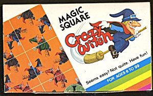 Vintage Magic Square - Crazy Witch