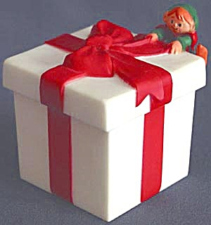 Hallmark Merry Miniature Elf On Gift Box