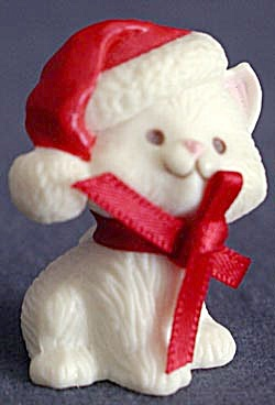 Hallmark Merry Miniature Kitten In Santa Hat