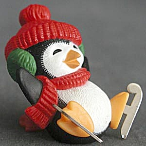 Hallmark Merry Miniature Penguin With Metal Skates