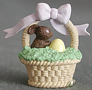 Hallmark Merry Miniature Easter Basket Chocolate Bunny