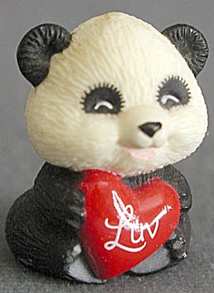 "Hallmark Merry Miniature Panda With Heart, ""luv&qu"