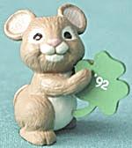 Hallmark Merry Miniature 1992 Mouse & Shamrock (Image1)