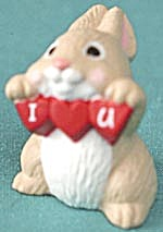 Hallmark Merry Miniature 1991 I Love You Rabbit (Image1)