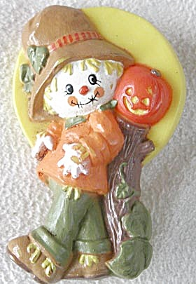 Vintage Hallmark Scarecrow and Pumpkin Pin (Image1)