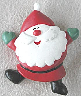 Vintage Hallmark Santa Jumping for Joy Pin (Image1)