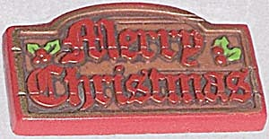 Vintage Merry Christmas Hallmark Pin (Image1)
