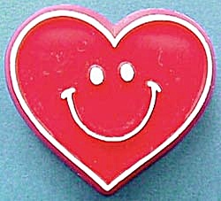 Vintage Smiley Face Heart Hallmark Pin (Image1)