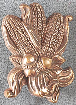 Hallmark Copper Corn Cobs & Acorns Pin