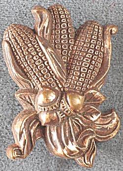 Hallmark Copper Corn Cobs & Acorns Pin (Image1)