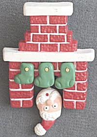 Hallmark Santa Chimney /Fireplace Pin (Image1)
