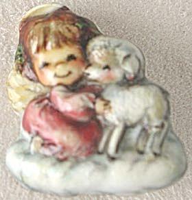 Vintage Hallmark Angel w/ Lamb Pin Rare (Image1)