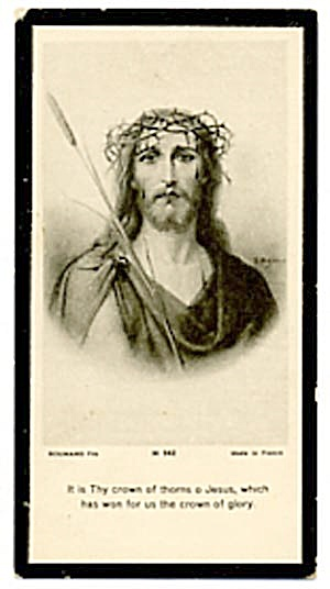 Vintage Holy Card of Jesus (Image1)