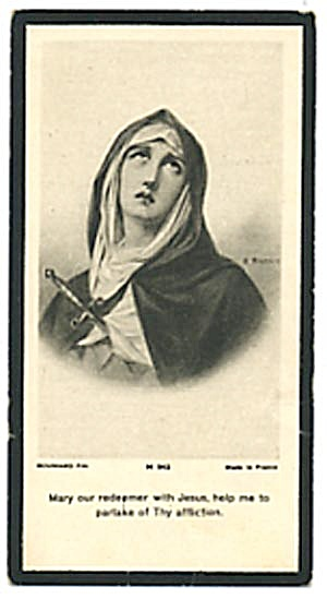 Vintage Holy Card Of Mary