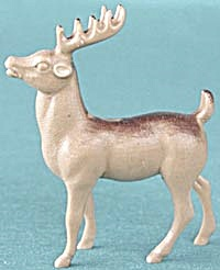 Vintage Brown Antlered Reindeer