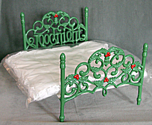 Vintage Christmas Iron Doll Bed