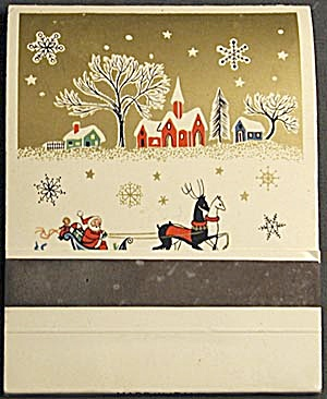 Vintage Santa Claus Giant Matchbook (Image1)