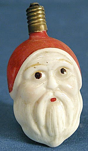 Vintage 2 Sided Santa Face Figural Light (Image1)