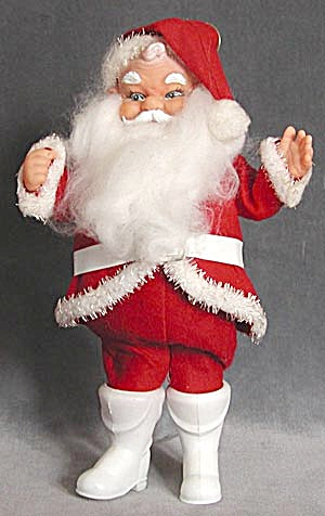 Vintage Santa Claus With White Boots
