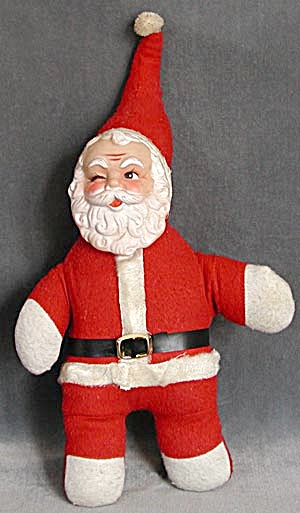 Vintage Santa Stuffed and Winking (Image1)