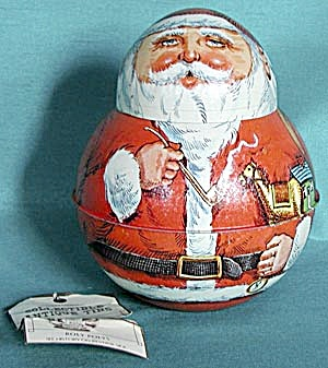 Bristol Ware Mr. And Mrs. Santa Clause Tins