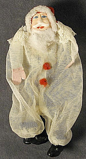 Santa Mesh Candy Container Vintage