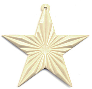 Vintage Glow in Dark Plastic Star Christmas Ornament (Image1)