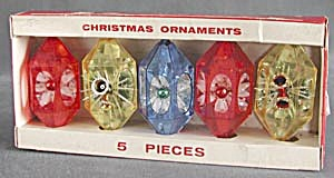 Vintage Jewelbrite Plastic Christmas Ornaments